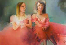 lady girls / #lady_girls #hermaphrodite #women_panting #women-artists #katerina_kokkinaki #portrait #women_portret