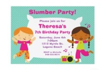 Girl's Birthday Party Invitations / She will love her custom party invitations you choose from these designers. Colorful and trendy these paper invites have text templates for your own party information. From little to sweet 16, these personalized birthday invitations will delight her. / by Lasgalen Arts