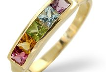Multi Gem Stone Rings / From lavender-hued amethysts to deep red garnets, our gorgeous gemstone rings incorporate a variety of glorious tones that bring colour, light and sparkle to your look.