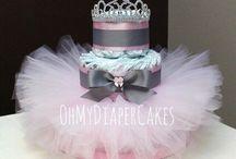 """torte di pannolini"" per principessa"