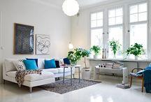 Scandinavian Style / Cool, clean, fresh interior spaces in Scandinavian style