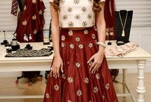 Party Lenghas / Of all the Saree designs and ethnic Indian women wear, large bridal lenghas make for the best marriage dress eye-catching appeal