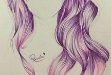 Hair Drawings❤