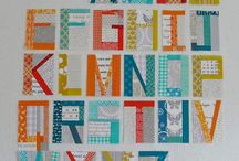 Improv Pieced Letters