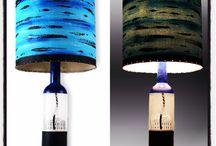 Handmade Lamps / #artecolome #recycledart #handmade #bottlelamps #abstractartist #lightingdesign #oneofakind