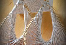 Peruvian thread earrins
