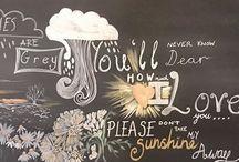 My Work: Personalised Chalk Board Art