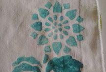 pittura su stoffa / accessori in stoffa pitturati