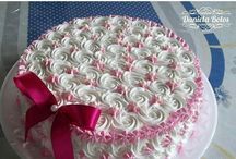 torte decorate con panna