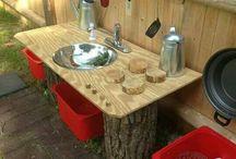 Outdoor kitchen / Wood