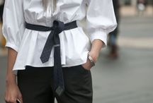 The style using a belt  / by Runa .