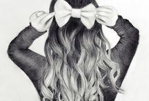 Włosy, rysowanie