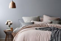 Deco room gray and pink for a serene and soft interior