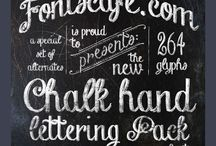 Crafting -- Chalk Art And Hand Lettering / by Katherine Gorshow