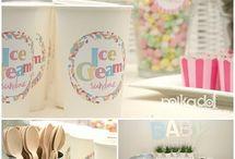 Ice cream party ideas - 4th birthday