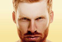 red hair man & boy