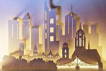 3D Pop-up-Städte aus Papier