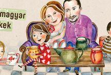 Teás család egy illusztrátor szemével / Illusztrációk az UKKO család mindennapjairól.