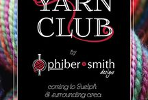 Guelph Yarn Club / The Yarn Club by Phibersmith Designs is a social and discount yarn-buying club for fibre artists in Guelph, Ontario, and the surrounding area