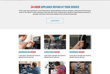 appliance repair landing page design