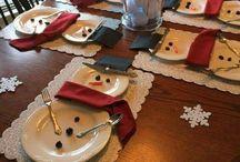 Karácsonyi asztal-dekoráció