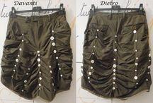 Gonne / Gonne create da vestiti riciclati