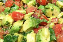 avocado +tomato salad