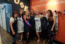 Bachelorette Parties & Proposals / Here comes the bride...almost! But first, there's the bachelorette party. Enjoy a night out with your girlfriends and bridal party at Muse! Email us at events@musepaintbar.com for more information about our private events.