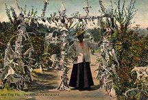 Agnes Jones / Jardin de sculptures d'os d'Agnes Jones (ancienne esclave) à Lake City, Floride - dans les années 1910 Voir : http://jmchesne.blogspot.fr/2011/02/le-fabuleux-boneyard-dagnes-jones_16.html
