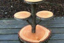идеи из спилов от деревьев