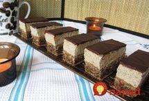 orechovo kakaove rezy