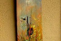ζωγραφια σε ξυλο