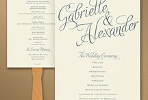 Wedding Program Ideas / Wedding program ideas for your wedding ceremony including custom printed programs, program fans, and wedding programs for sprint, summer, fall and winter weddings.
