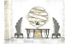 Foyer Design Ideas / This is the entrance that sets the stage for the rest of the home.Foyer ideas, furniture,wall decor,flooring