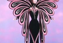 Barbie belle robe longue tissus / tenues de gala, princesse, miss etc .... en tissus