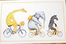 animal on bicycle
