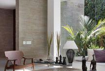 Ściana w domu i na zewnątrz w jednym materiale