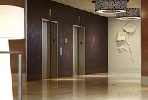 elevator lobby and elevators