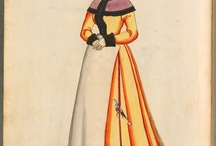 Circa 1520's - 1580's german dresses