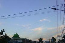 panorama menjelang senja