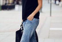 Camiseta preta / Looks com camiseta preta  Black t-shirt looks