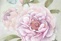 Пионы, хризантема