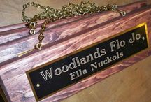 Personalized Horse Products / This is a broad overview of Personalized Horse Products that I make and sell.