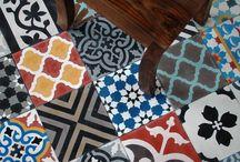 Cementová dlažba si zaslouží svou nástěnku! / Úžasná cementová dlažba z Maroka! Inspirativní a neotřelá. Nestárnoucí a věčná! Kamkoli a kdykoli :-).