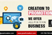 Pearl Creation - Its All About Web Solution / Offering top quality web services starting from designing to marketing within your budget.