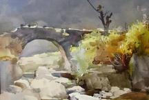 Akvarel: Liu Yi / Liu Yi - Chinese painter - Born in Shanghai in 1958.