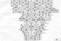 схемы салфеток спицами