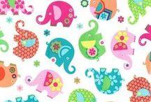 Elephant Romp Fabric