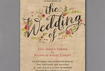 Rustic Wedding Invitations / Rustic and romantic- all in one gorgeous invitation. Available at Persnickety Invitation Studio.