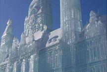 lodowe rzeźby
